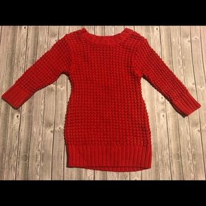 Cute red knit sweater dress